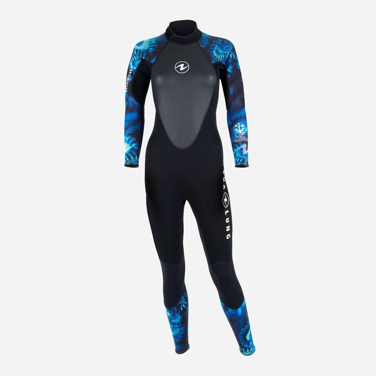 HydroFlex 1mm Coral Guardian Wetsuit Women, Noir/Bleu, hi-res image number 0