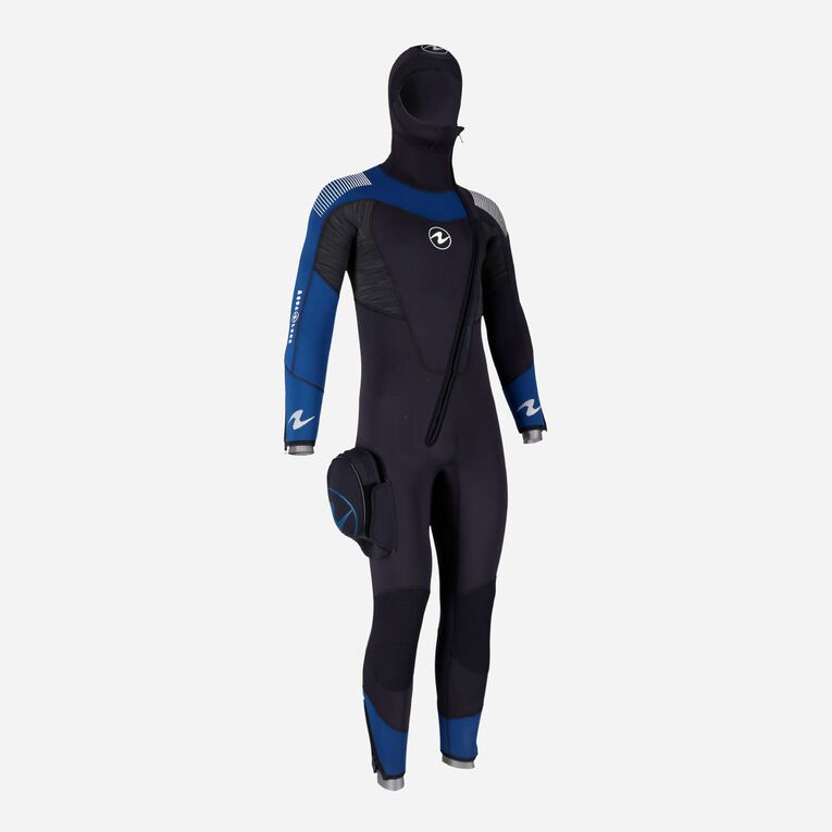 DynaFlex 6.5mm Wetsuit with Hood Men, Noir/Bleu marine, hi-res image number 1