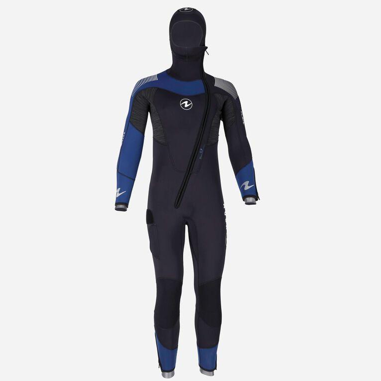 DynaFlex 6.5mm Wetsuit with Hood Men, Noir/Bleu marine, hi-res image number 0