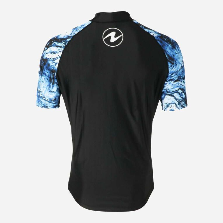 Aqua Rashguard Short Sleeve - Men, Bleu marine/Blanc, hi-res image number 3