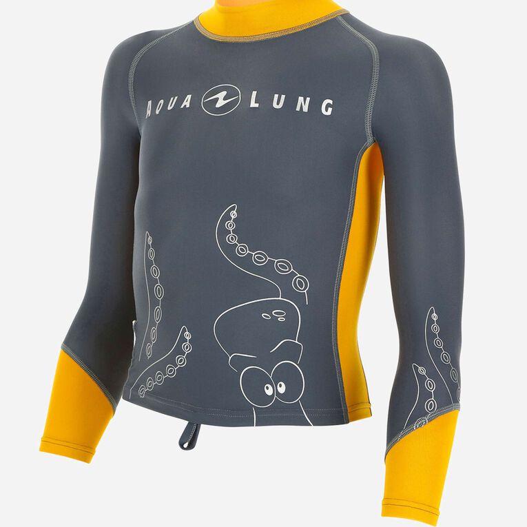 Rashguard Long Sleeves - kids, Gris/Orange, hi-res image number 0