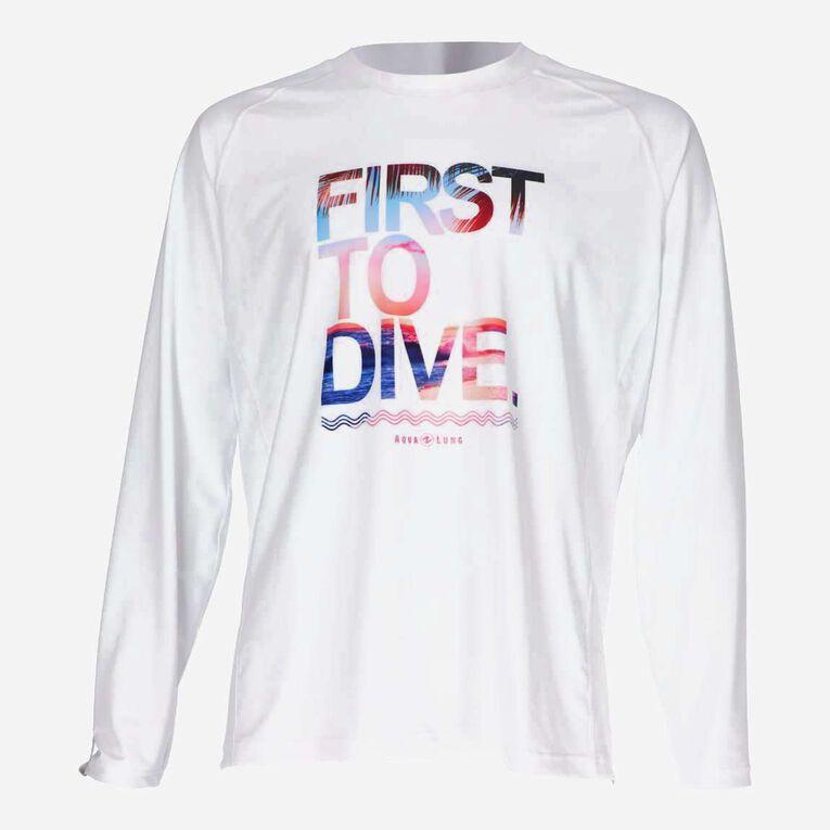 Sportswear Rashguard lifestyle fit short sleeve - Men, Blanc/Multicolore, hi-res image number 0