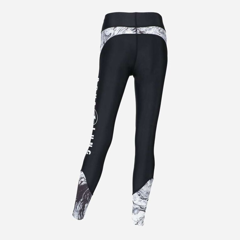 Aqua Rashguard Leggings - Women, Noir/Blanc, hi-res image number 2