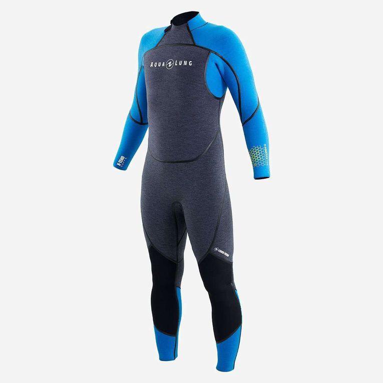 AquaFlex 5mm Wetsuit - Men, Gris/Bleu, hi-res image number 2