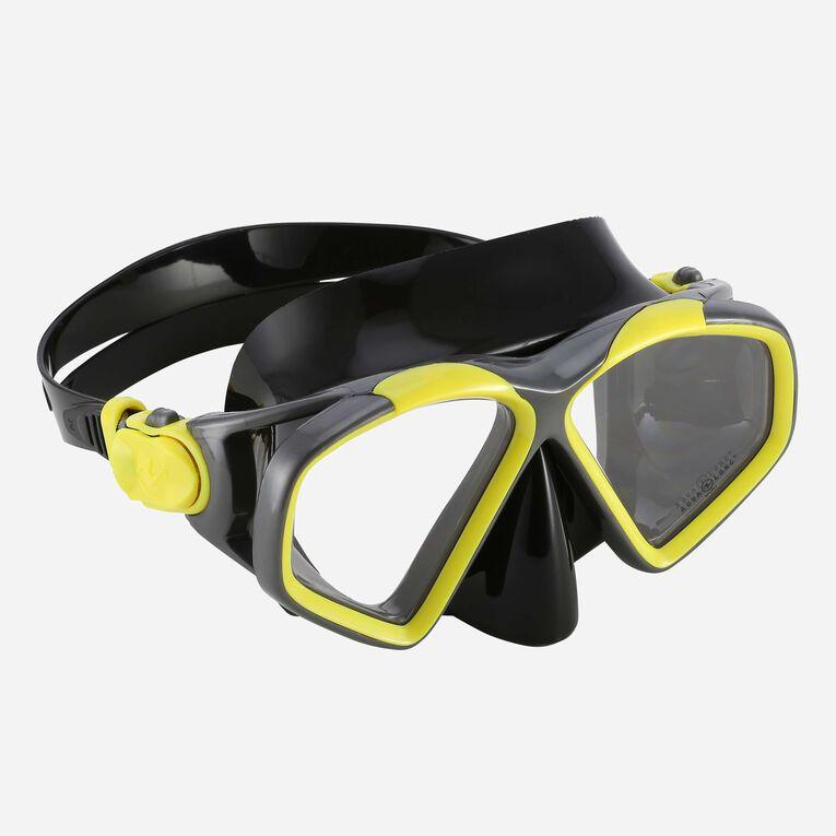 Hawkeye Snorkeling mask, Jaune vif/Gris foncé, hi-res image number 0