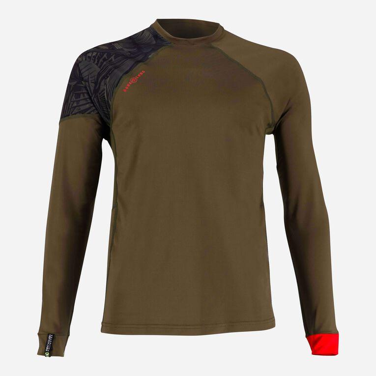 Xscape Rashguard Loose fit Long sleeves - Men, Vert foncé/Rouge, hi-res image number 0