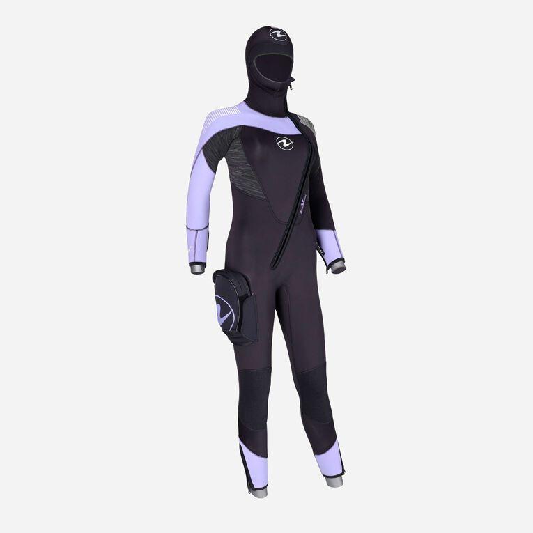DynaFlex 6.5mm Wetsuit with Hood Women, Noir/Violet, hi-res image number 2