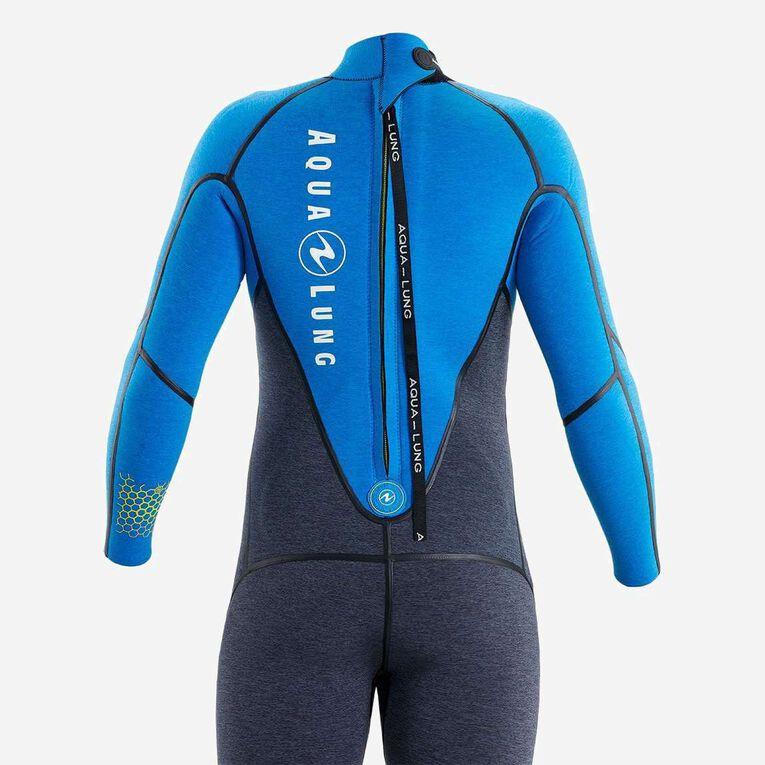 AquaFlex 5mm Wetsuit - Men, Gris/Bleu, hi-res image number 3