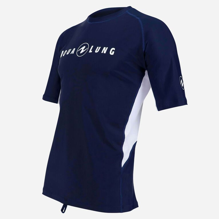 Rashguard Short Sleeve loose fit - Men, Bleu marine/Blanc, hi-res image number 2