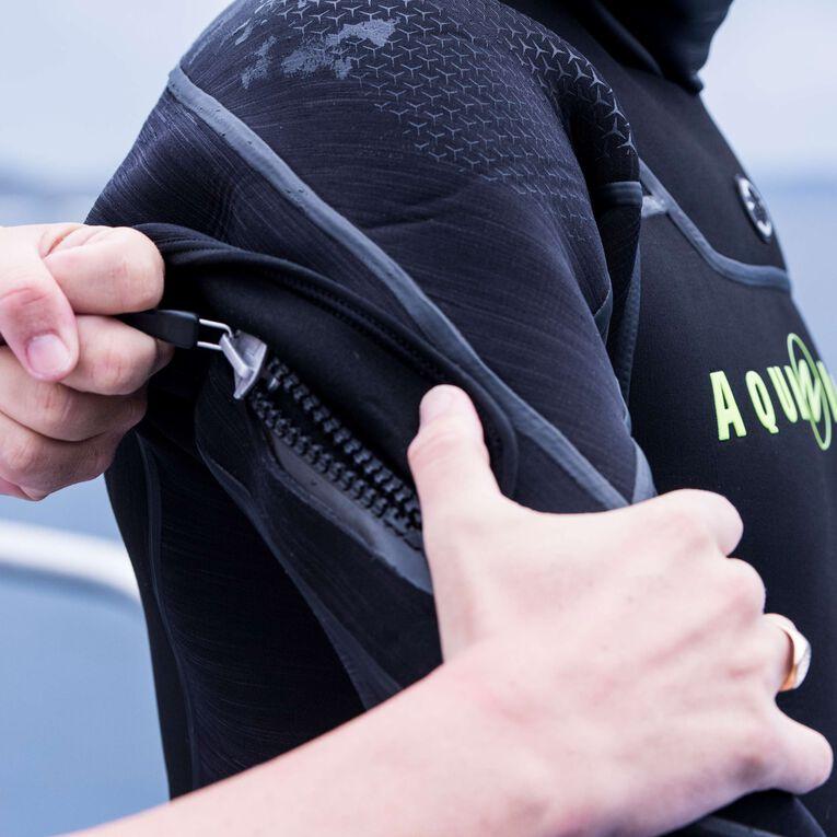 Iceland 7mm Semi-Dry Wetsuit Men, Noir/Vert citron, hi-res image number 4