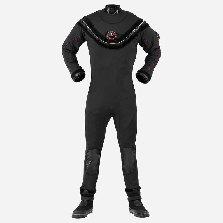 Fusion Sport Drysuit, Noir/Orange, hi-res image number null