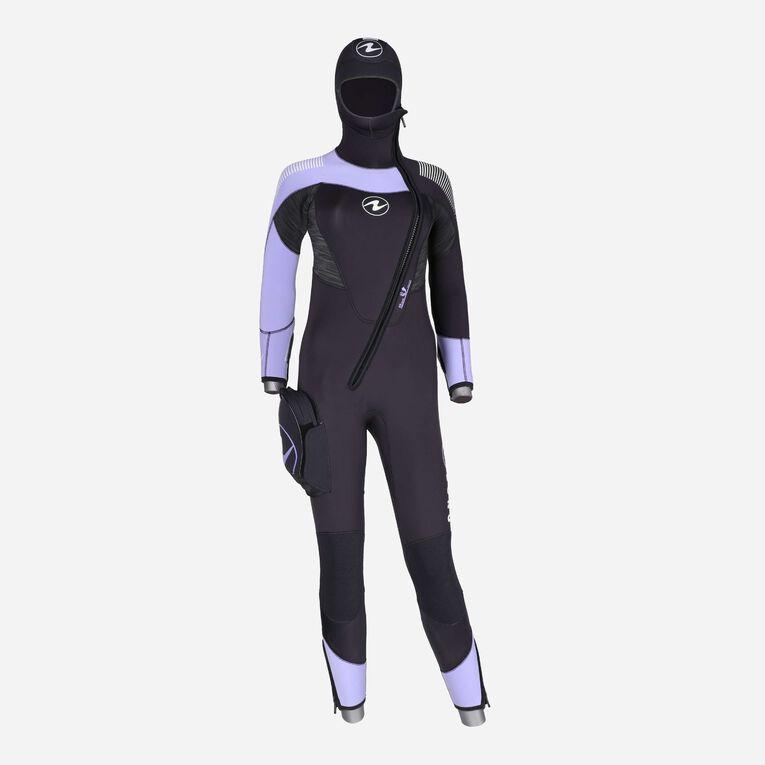 DynaFlex 6.5mm Wetsuit with Hood Women, Noir/Violet, hi-res image number 0