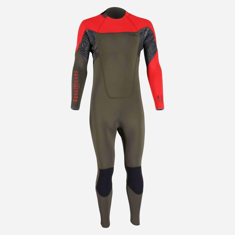 Xscape 4/3mm Wetsuit - Men, Vert foncé/Rouge, hi-res image number 0