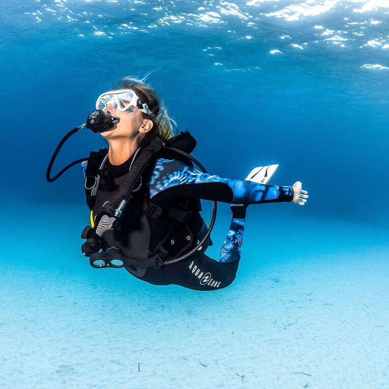 HydroFlex 1mm Coral Guardian Wetsuit Women, Noir/Bleu, hi-res image number 4