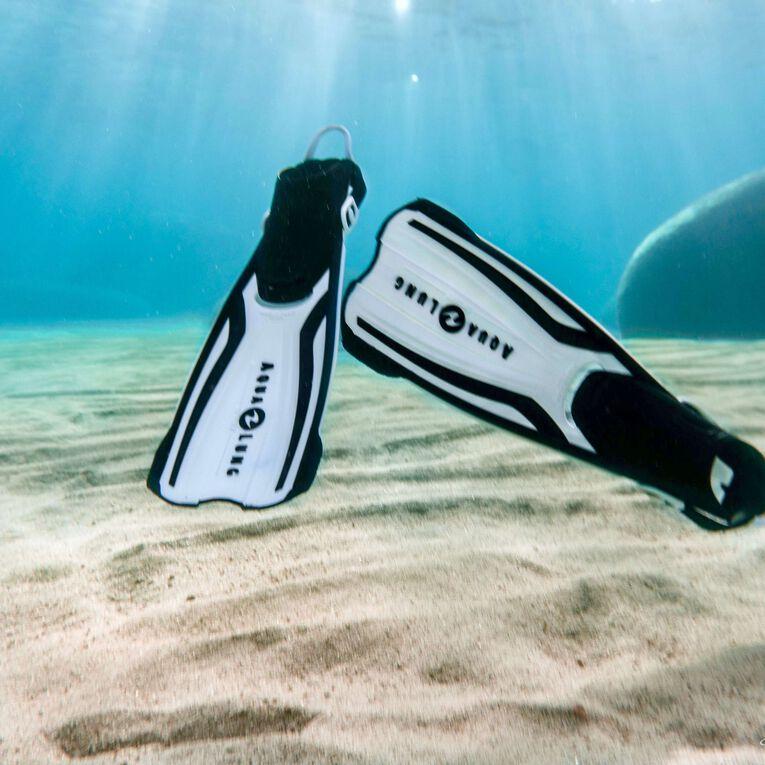 Amika Snorkeling Fins, Blanc/Noir, hi-res image number 2