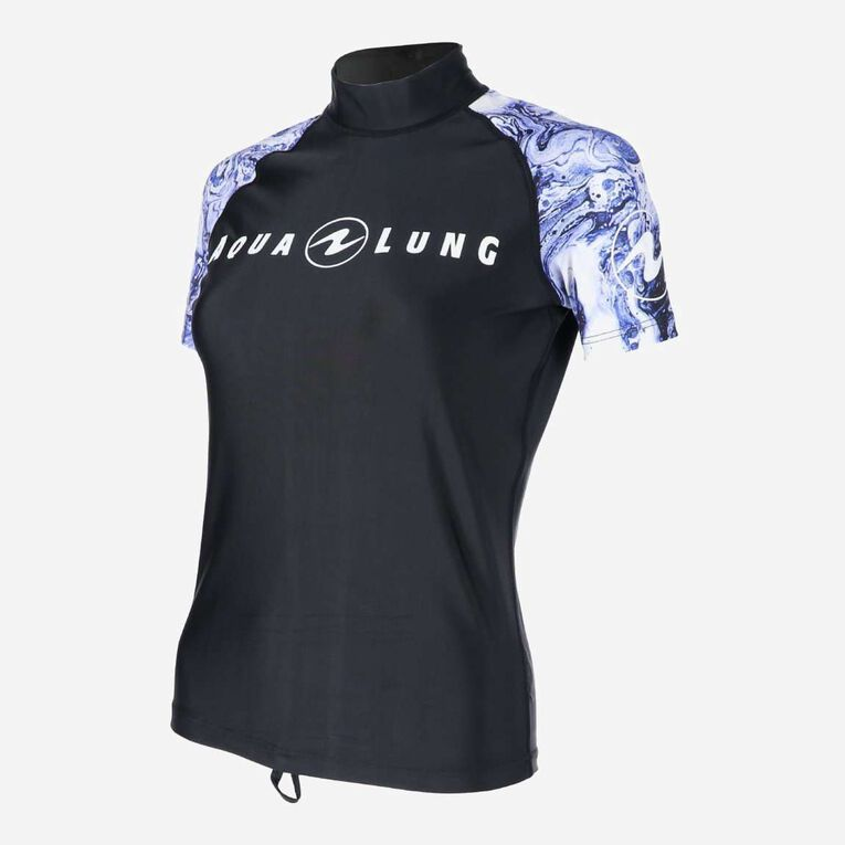 Aqua Rashguard Short Sleeve - Women, Violet/Blanc, hi-res image number 2