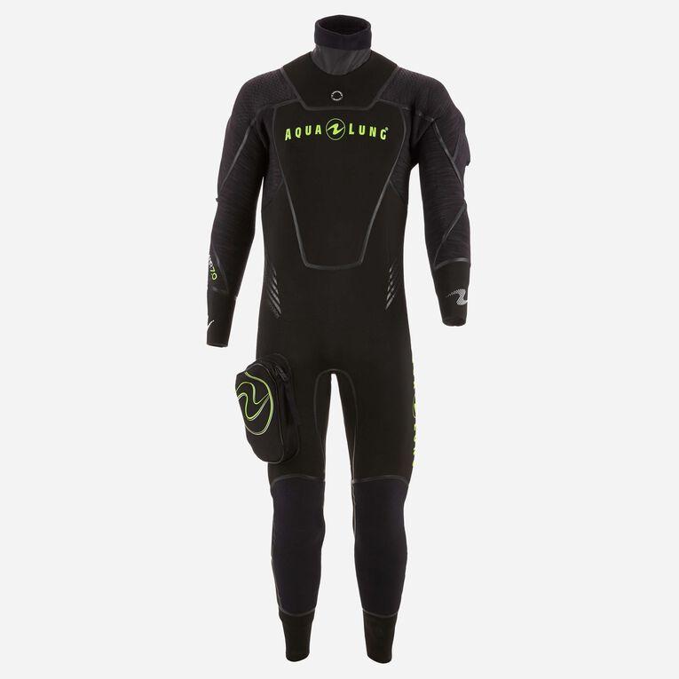 Iceland 7mm Semi-Dry Wetsuit Men, Noir/Vert citron, hi-res image number 0