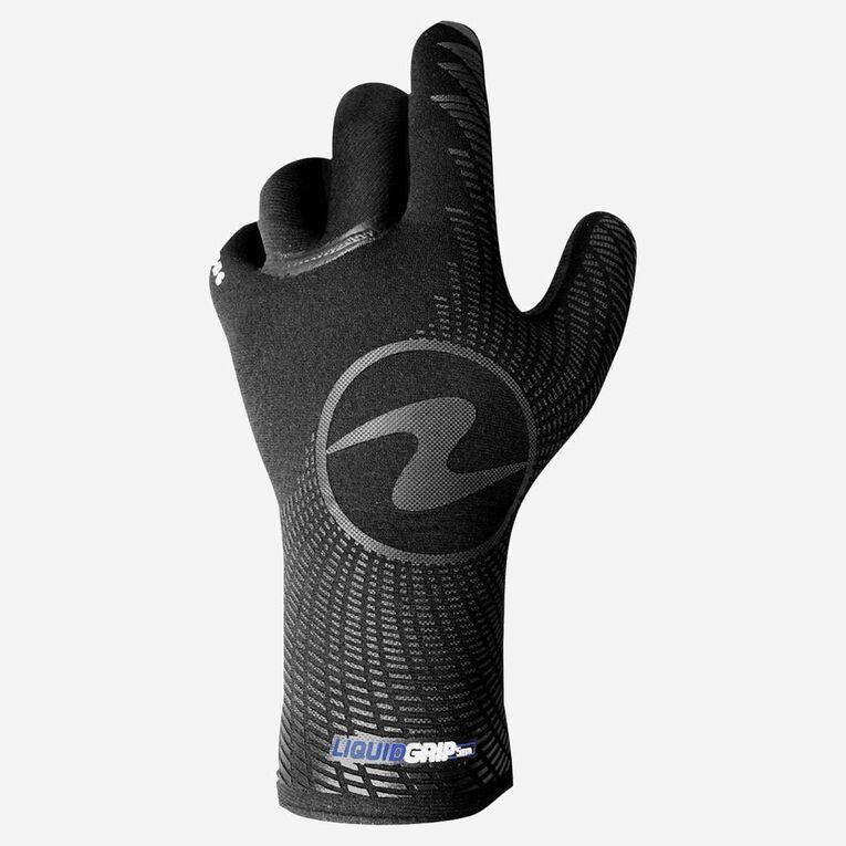 3mm Liquid Grip Gloves, Noir/Bleu, hi-res image number 1