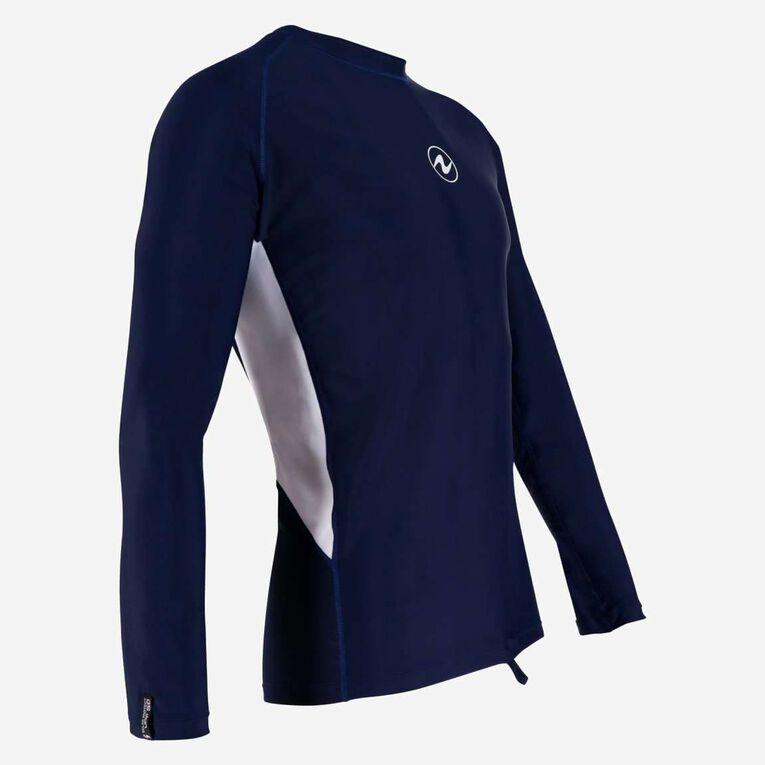 Rashguard Loose fit Long sleeves - Men, Bleu marine/Blanc, hi-res image number 1
