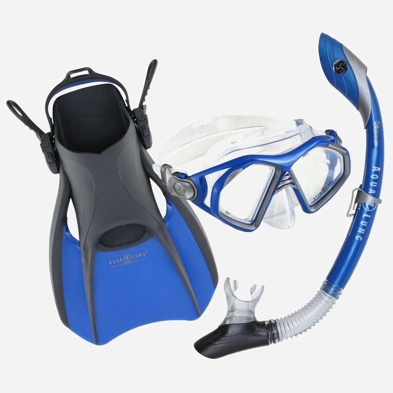 Trooper Travel Snorkeling Set, Bleu/Noir, hi-res image number 0