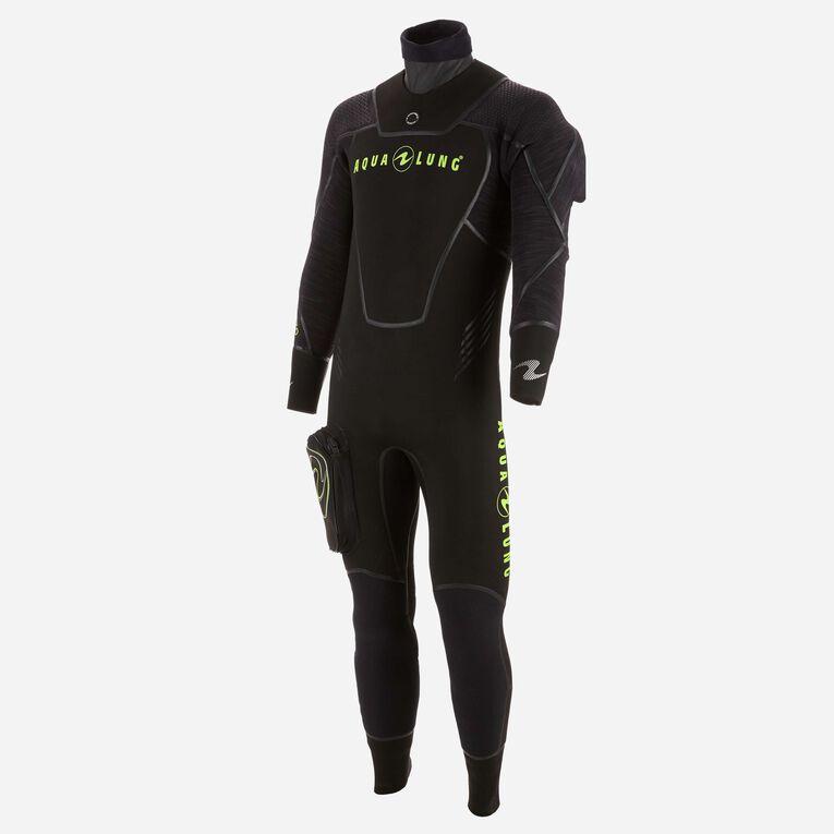 Iceland 7mm Semi-Dry Wetsuit Men, Noir/Vert citron, hi-res image number 2