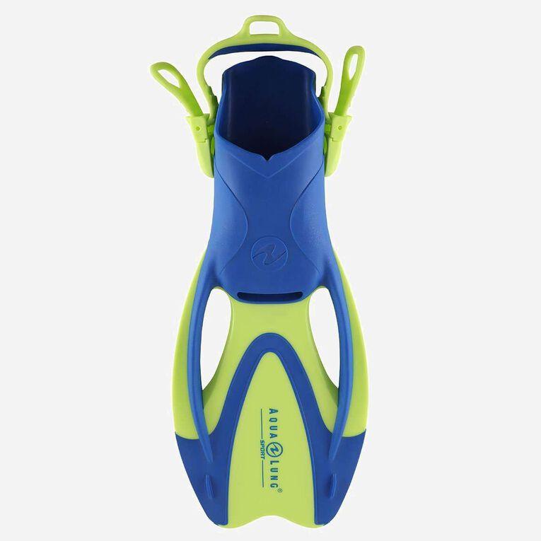 Zinger Snorkeling Fins Junior, Vert vif/Bleu clair, hi-res image number 0