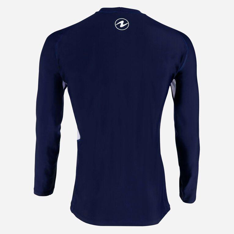 Rashguard Loose fit Long sleeves - Men, Bleu marine/Blanc, hi-res image number 2