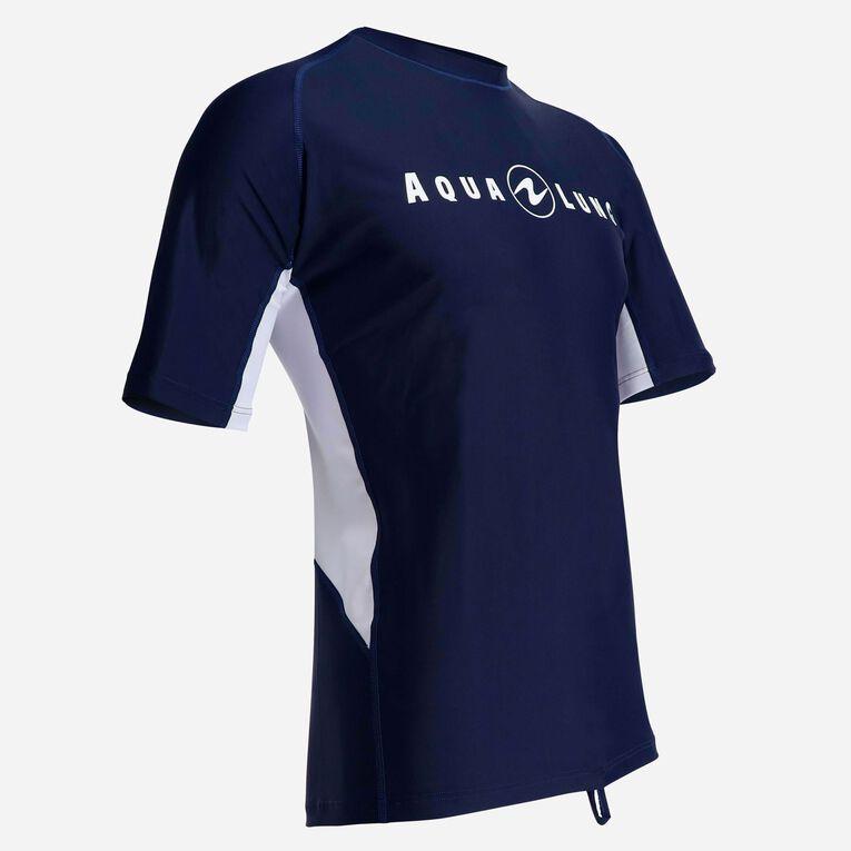 Rashguard Short Sleeve loose fit - Men, Bleu marine/Blanc, hi-res image number 1