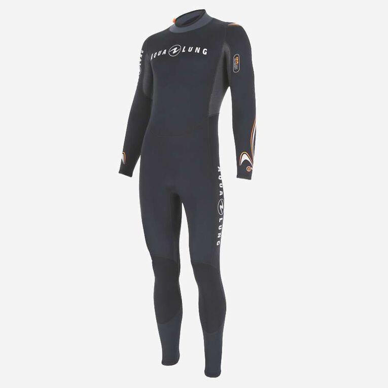 Dive 7mm Wetsuit, Noir/Orange, hi-res image number 2