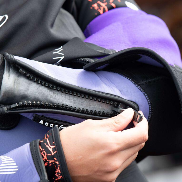 DynaFlex 7mm Wetsuit Women, Noir/Violet, hi-res image number 4