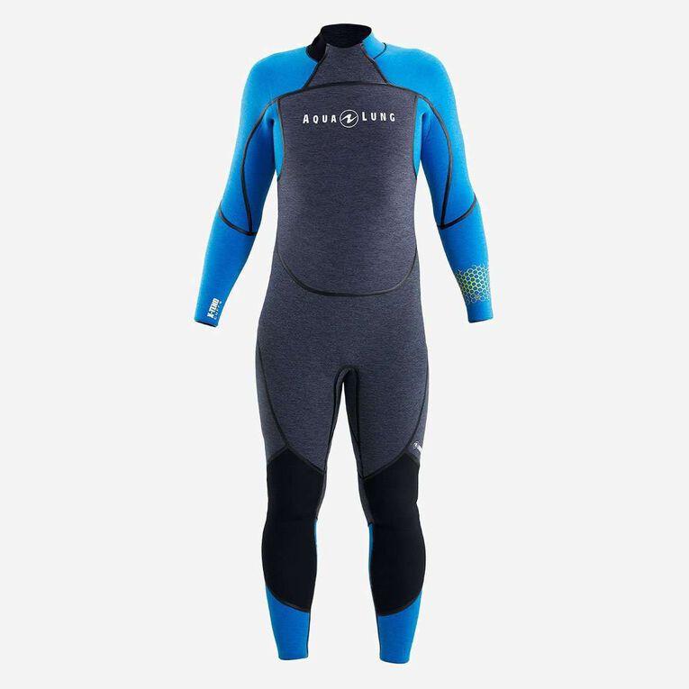 AquaFlex 5mm Wetsuit - Men, Gris/Bleu, hi-res image number 1