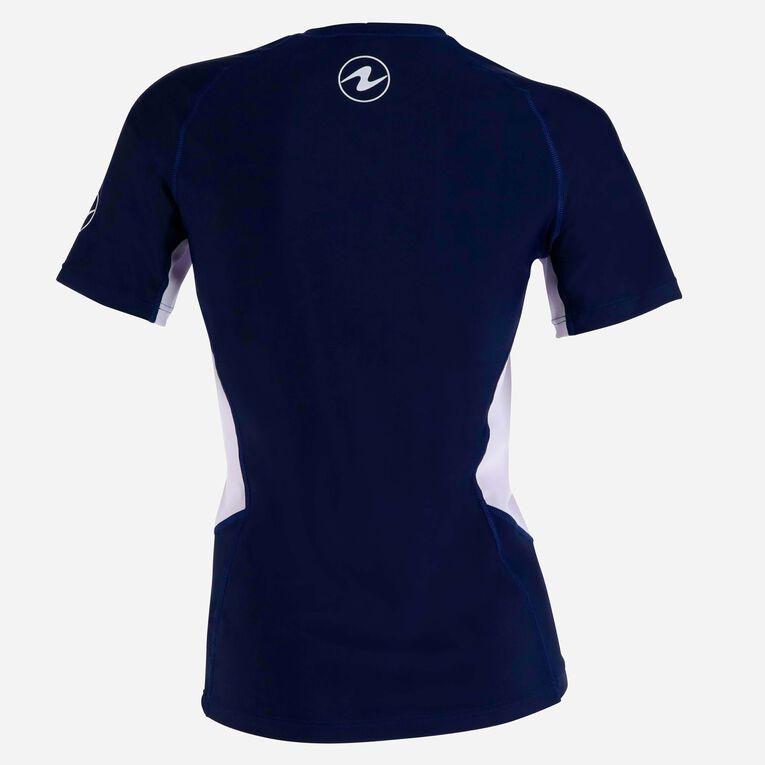 Rashguard Loose Fit Short sleeves - Women, Bleu marine/Blanc, hi-res image number 3