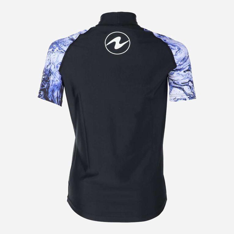 Aqua Rashguard Short Sleeve - Women, Violet/Blanc, hi-res image number 3