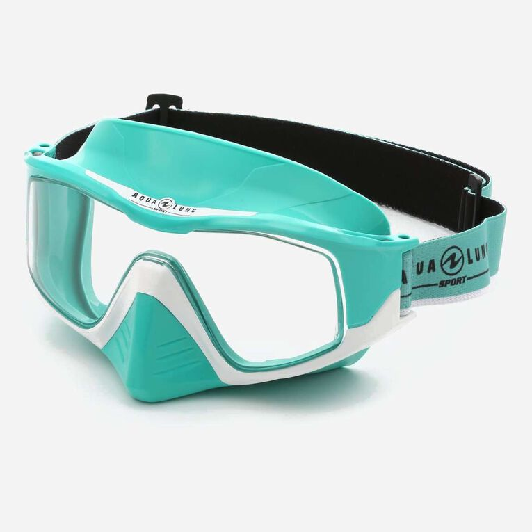Versa Snorkeling mask, Turquoise/Blanc/Verres transparents, hi-res image number null