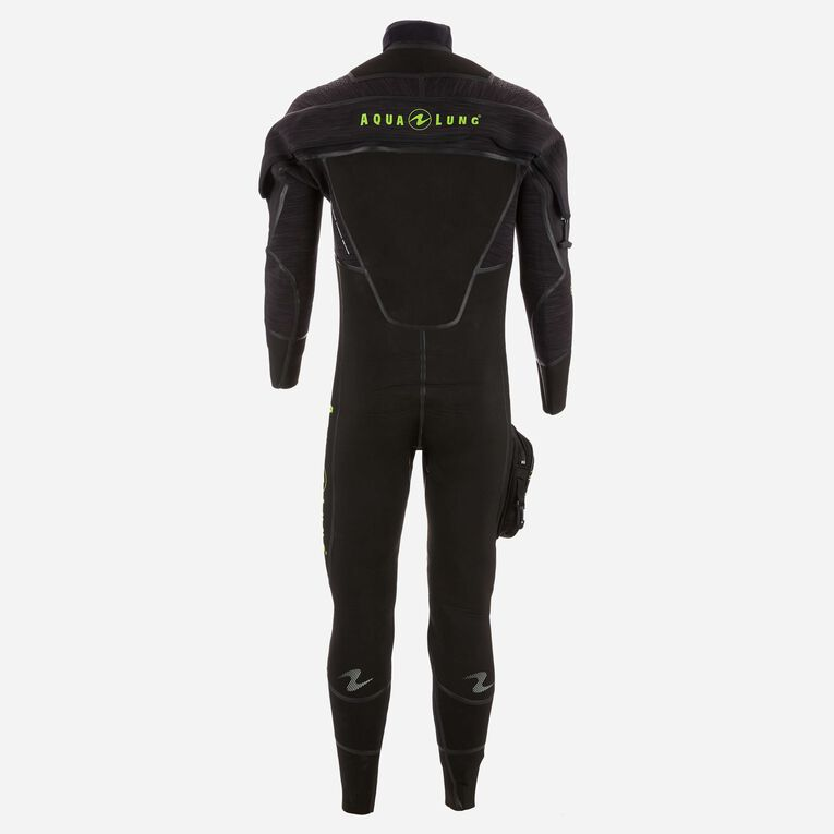 Iceland 7mm Semi-Dry Wetsuit Men, Noir/Vert citron, hi-res image number 1