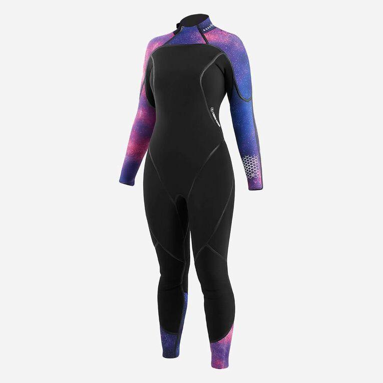 AquaFlex 5mm Wetsuit - Women, Noir/Violet, hi-res image number 1
