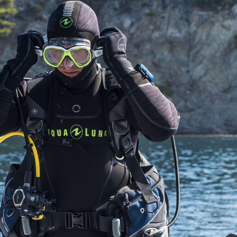 Iceland 7mm Semi-Dry Wetsuit Men, Noir/Vert citron, hi-res image number 6