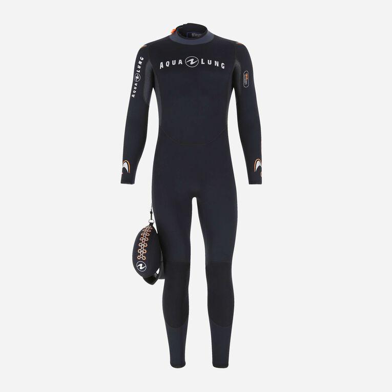 Dive 3mm Wetsuit, Noir/Orange, hi-res image number 0