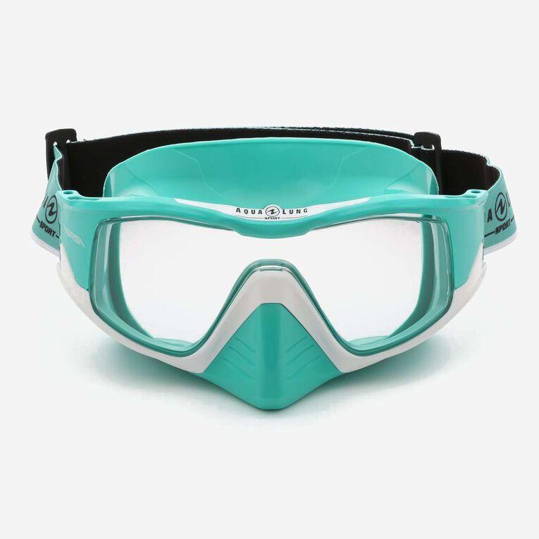 Versa Snorkeling mask, Turquoise/Blanc/Verres transparents, hi-res image number 1