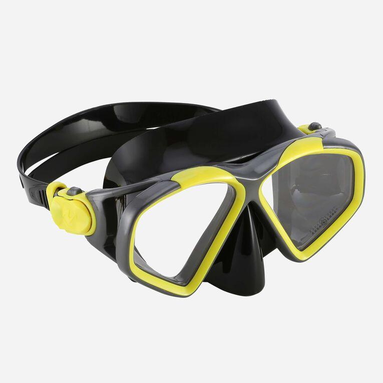 Hawkeye Snorkeling mask, Jaune vif/Gris foncé, hi-res image number null