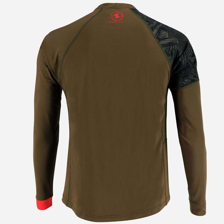 Xscape Rashguard Loose fit Long sleeves - Men, Vert foncé/Rouge, hi-res image number 3
