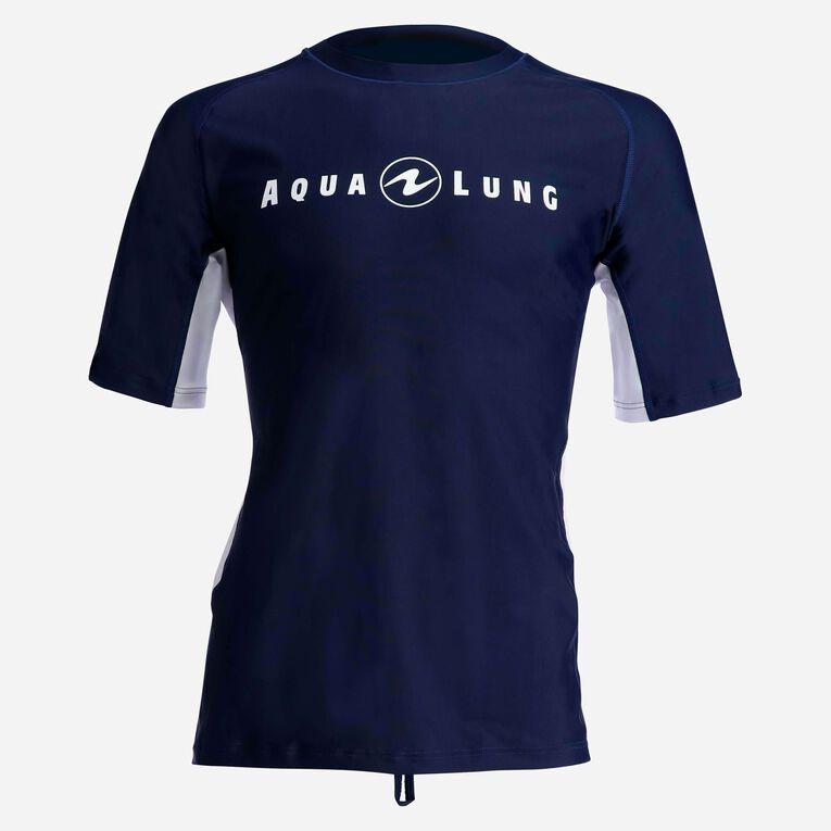 Rashguard Short Sleeve loose fit - Men, Bleu marine/Blanc, hi-res image number 0
