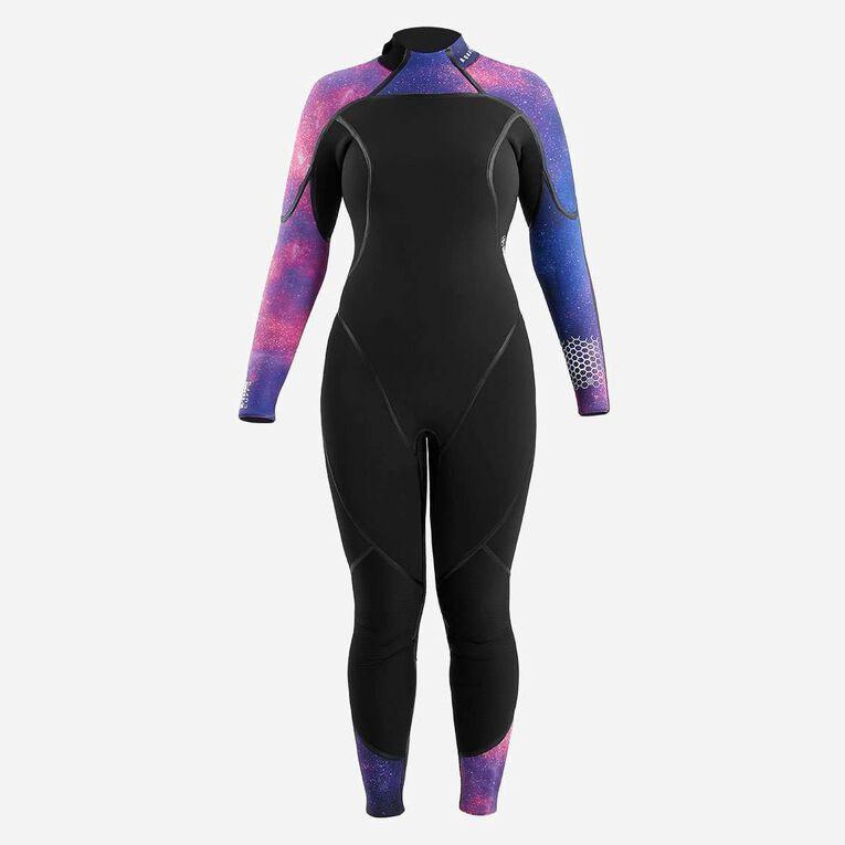AquaFlex 5mm Wetsuit - Women, Noir/Violet, hi-res image number 2