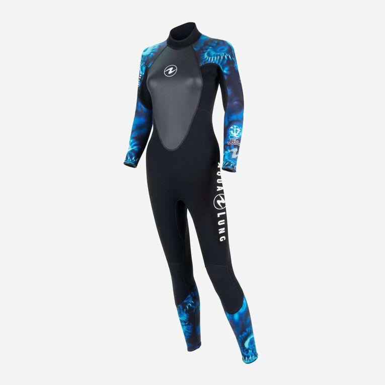 HydroFlex 1mm Coral Guardian Wetsuit Women, Noir/Bleu, hi-res image number 2