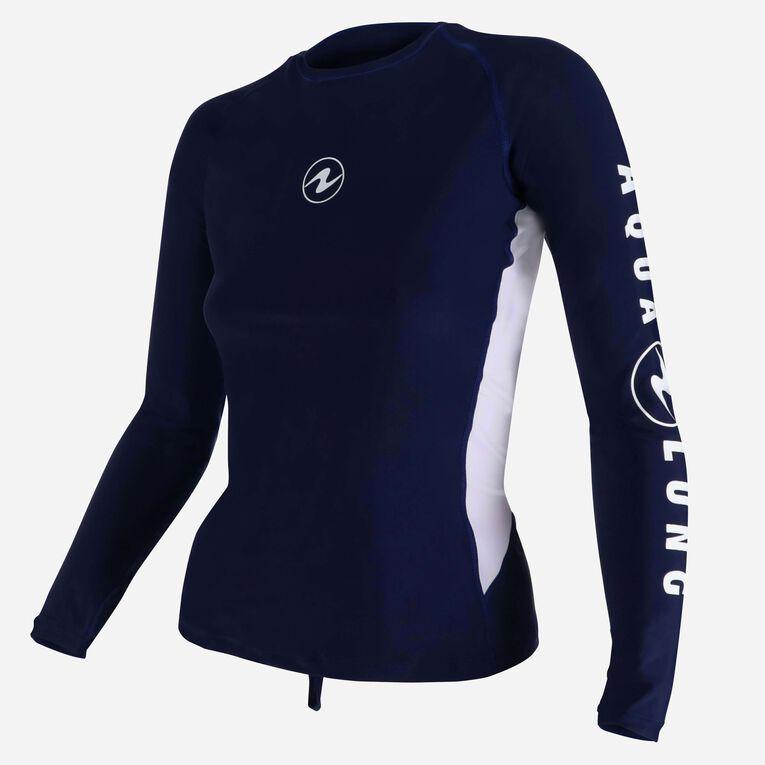 Rashguard Loose fit Long sleeves - Women, Bleu marine/Blanc, hi-res image number 2