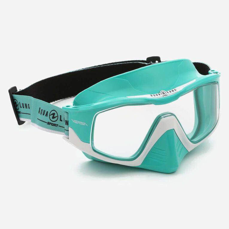 Versa Snorkeling mask, Turquoise/Blanc/Verres transparents, hi-res image number 0