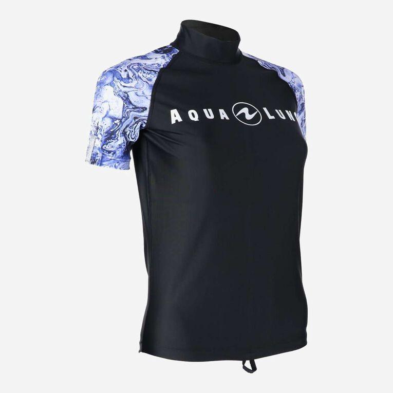 Aqua Rashguard Short Sleeve - Women, Violet/Blanc, hi-res image number 1