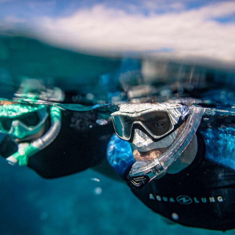 Versa Snorkeling mask, Turquoise/Blanc/Verres transparents, hi-res image number 4