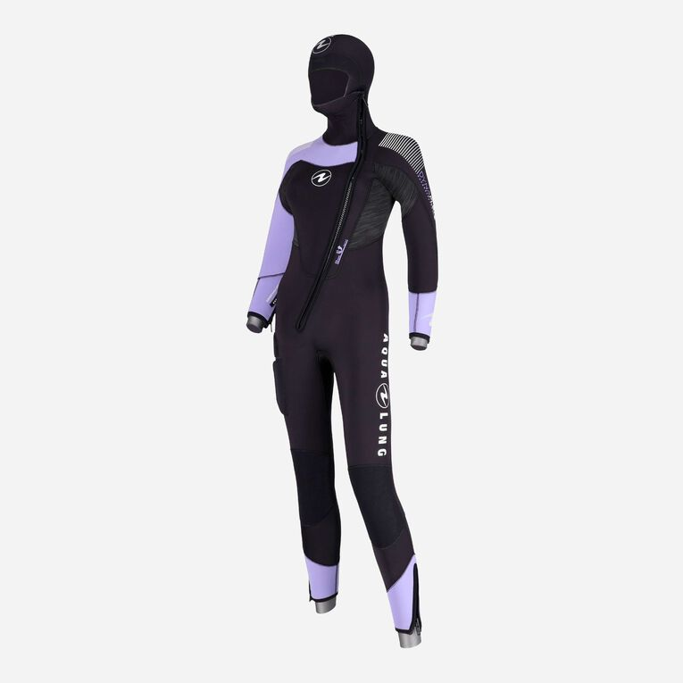 DynaFlex 6.5mm Wetsuit with Hood Women, Noir/Violet, hi-res image number 1