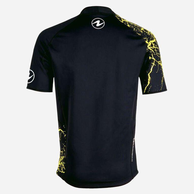 CeramiQskin short sleeves Top - Men, Noir/Vert citron, hi-res image number 1